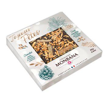 Achat en ligne Tablette message joyeuses fetes chocolat noir 85g - Monbana