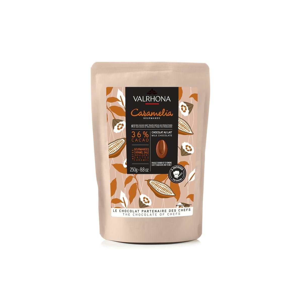 Chocolat au lait et caramel à pâtisser Caramelia 36% 250g - Valrhona