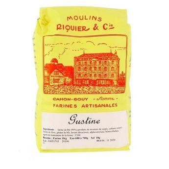 Achat en ligne Farine gustine pour pain au levain 1 kg - Moulins Riquier