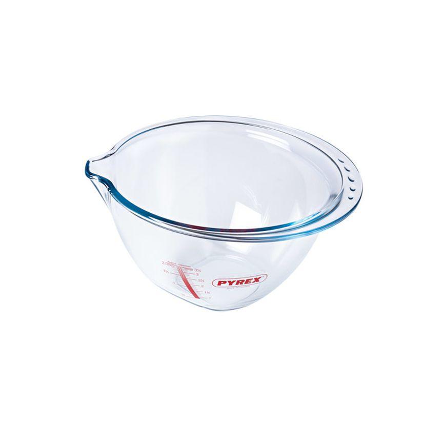 Bol de préparation en verre transparent avec bec verseur 4.2 l - Pyrex