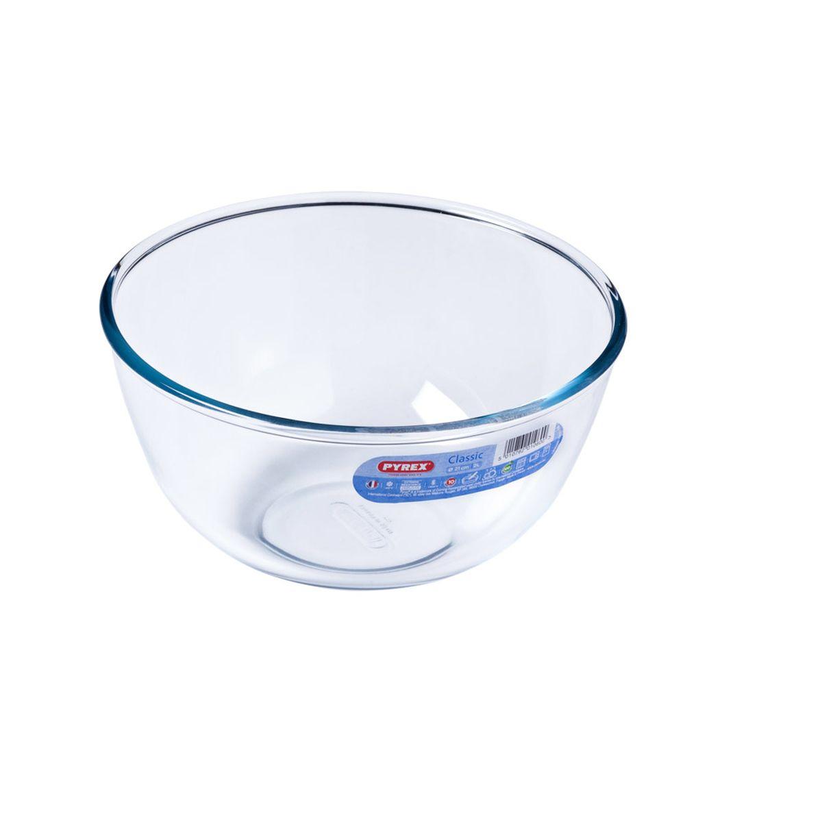 Bol de préparation en verre transparent 2 l - Pyrex