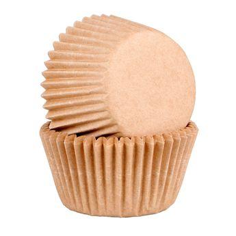 Achat en ligne 45 caissettes à cupcakes et muffins en papier compostable beige 7.5 x 3.5 cm - Chevalier Diffusion