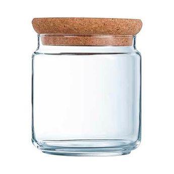 Achat en ligne Bocal en verre avec couvercle liège 0,75l  11cmx11cmx11cm - Luminarc