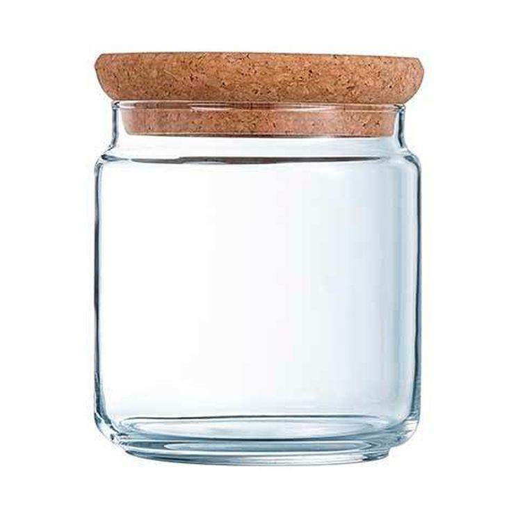 Bocal en verre avec couvercle liège 0,75L 10,5x10,5x11cm - Luminarc