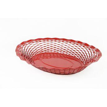 Achat en ligne Corbeille à pain en inox rouge 30 x 24 cm - Roger Orfevre