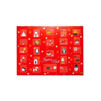 Achat en ligne Kit calendrier de l´avent à fabriquer rouge - Patisdecor