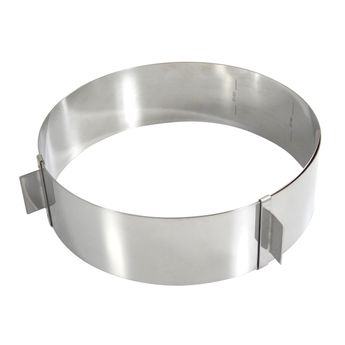 Achat en ligne Cercle à pâtisserie réglable en inox de 16 à 28 cm hauteur 6 cm - Gobel