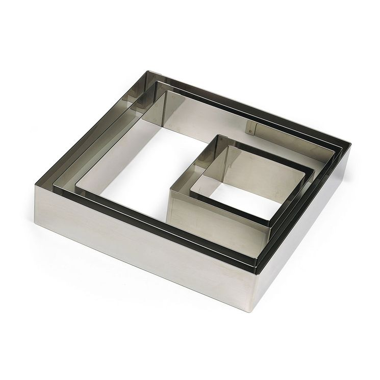 Cadre à pâtisserie carré en inox 22 x 4.5 cm - Gobel