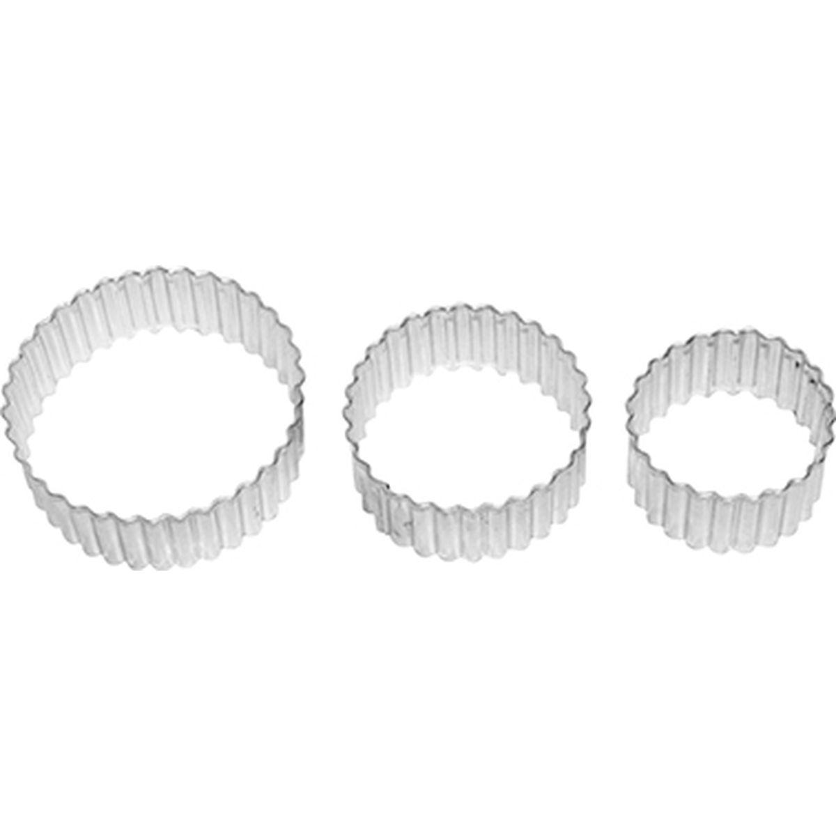 Set de 3 emporte-pièces rosace en inox 5, 6 et 7 cm - Alice Délice