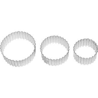 Achat en ligne Set de 3 emporte-pièces rosace en inox 5, 6 et 7 cm - Birkmann