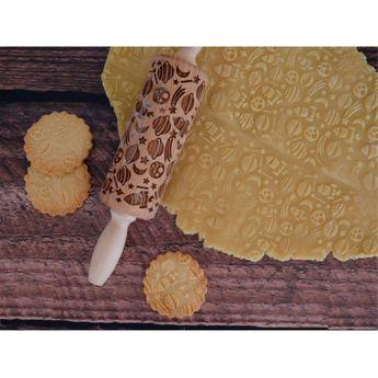 Achat en ligne Rouleau à empreintes en bois espace 11 cm - Alice Délice