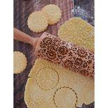 Rouleau à empreintes en bois floral 25 cm - Alice Délice
