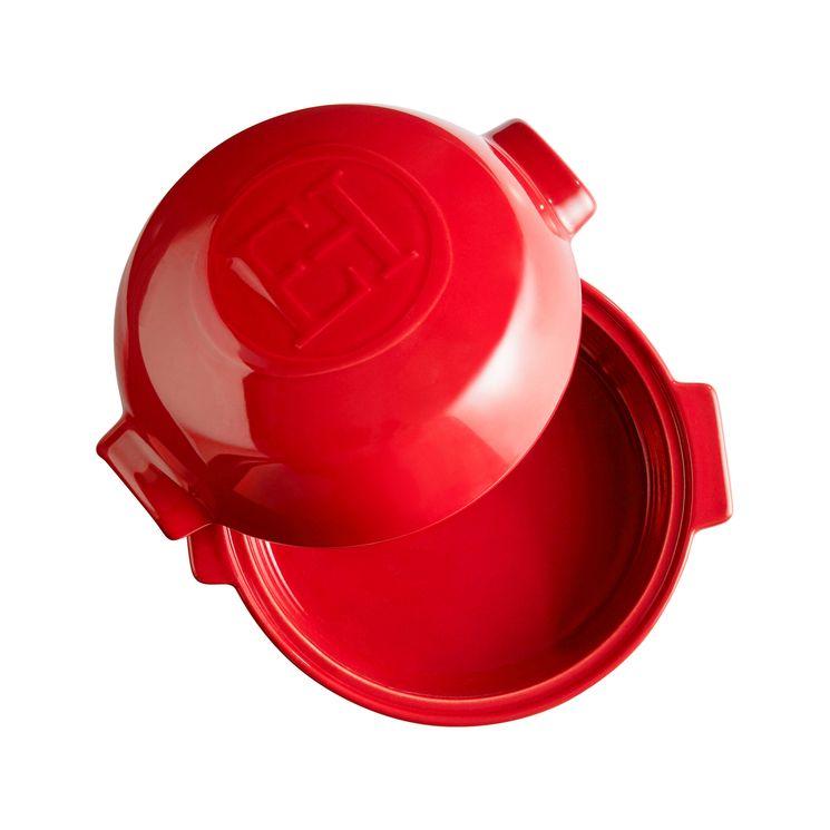 Cuiseur à fromage en céramique grand cru rouge  17.5cm diam - Emile Henry