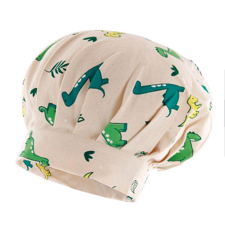 Toque enfant en coton dinosaure 24 x 26 cm