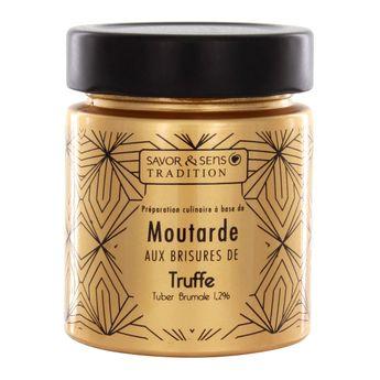 Achat en ligne Moutarde jus de truffe pot sérigraphié doré 130g - Savor et Sens