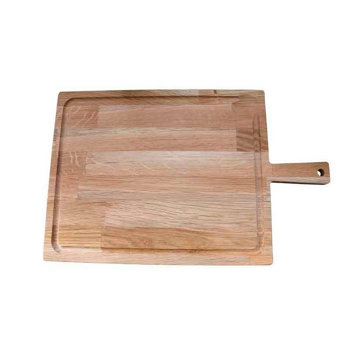 Planche de présentation avec poignée chêne huilé 46 x 28.5 cm - Roger Orfevre