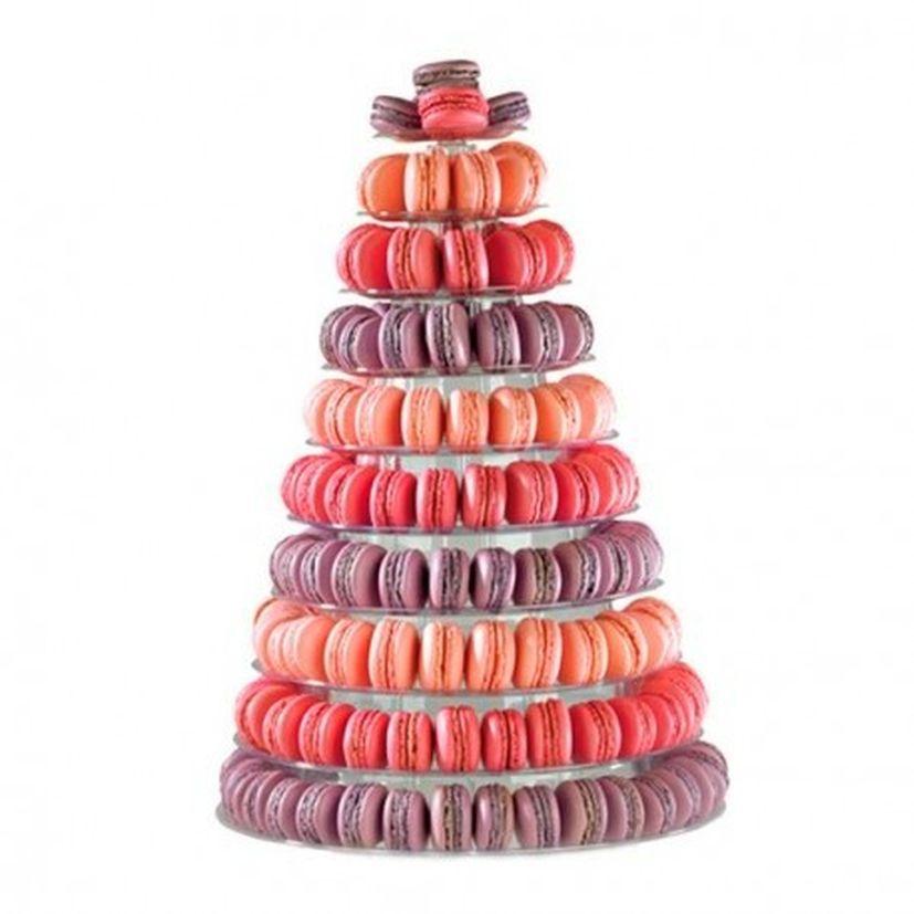 Présentoir pyramide à macarons en plastique 35 cm - Mallard Ferrière