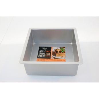 Achat en ligne Moule à bords hauts carré en aluminium 23 x 10 cm - Patisdecor