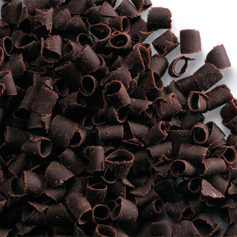 Décor en chocolat : petits copeaux en chocolat noir 80 gr