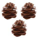 3 pommes de pin en chocolat 3.5 cm