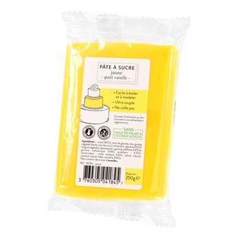 Achat en ligne Pâte à sucre jaune 250g sans huile de palme
