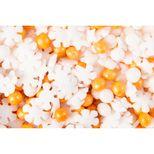 Décor à parsemer : perles et flocons dorés et blancs Noël 60gr