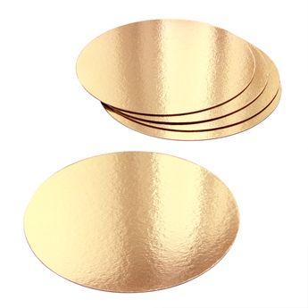 Achat en ligne 5 supports à gâteaux ronds dorés 20 cm - Gatodeco