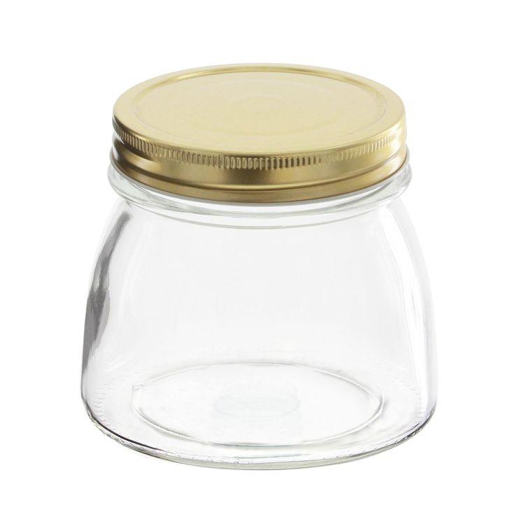 Bocal en verre couvercle doré 500ml - Borgonovo
