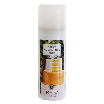 Achat en ligne Spray colorant alimentaire doré 30ml