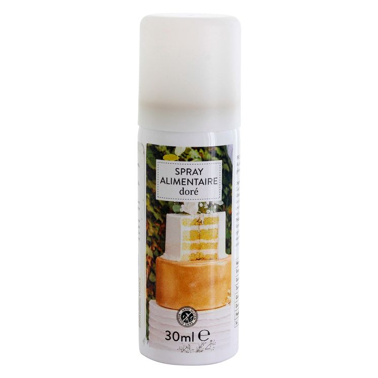 Spray colorant alimentaire doré 30ml