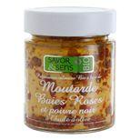 Moutarde bio baies roses poivre noir 130g - Savor et Sens