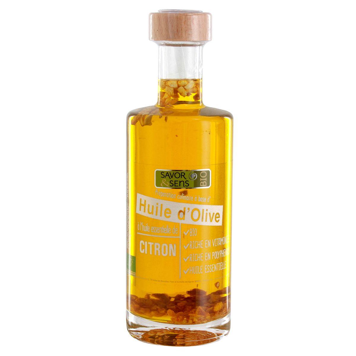 Huile d´olive bio citron 25cl - Savor et Sens