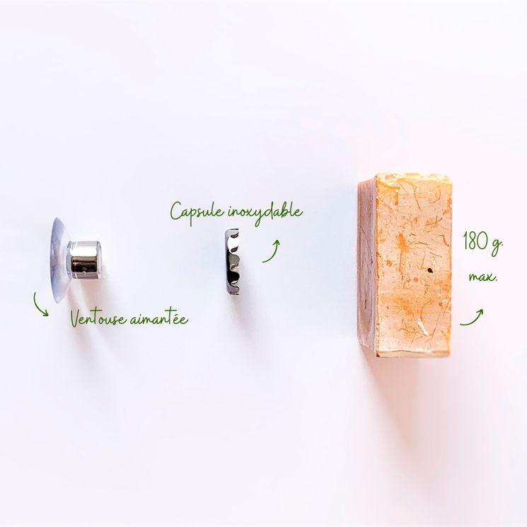 Porte savon minimaliste aimanté en inox - Chamarrel