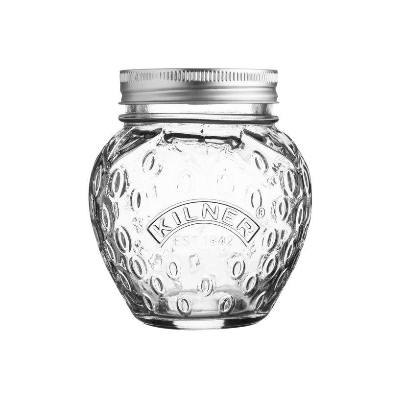 Bocal à confiture en verre motif fraise 400ml - Kilner