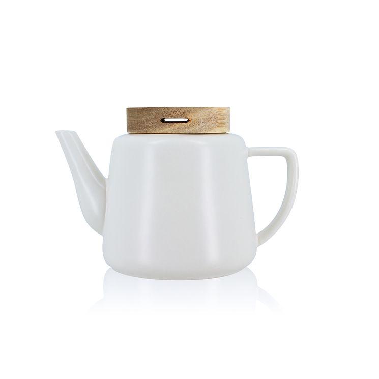 Théière en porcelaine blanche Enzo 0.68 L - Ogo