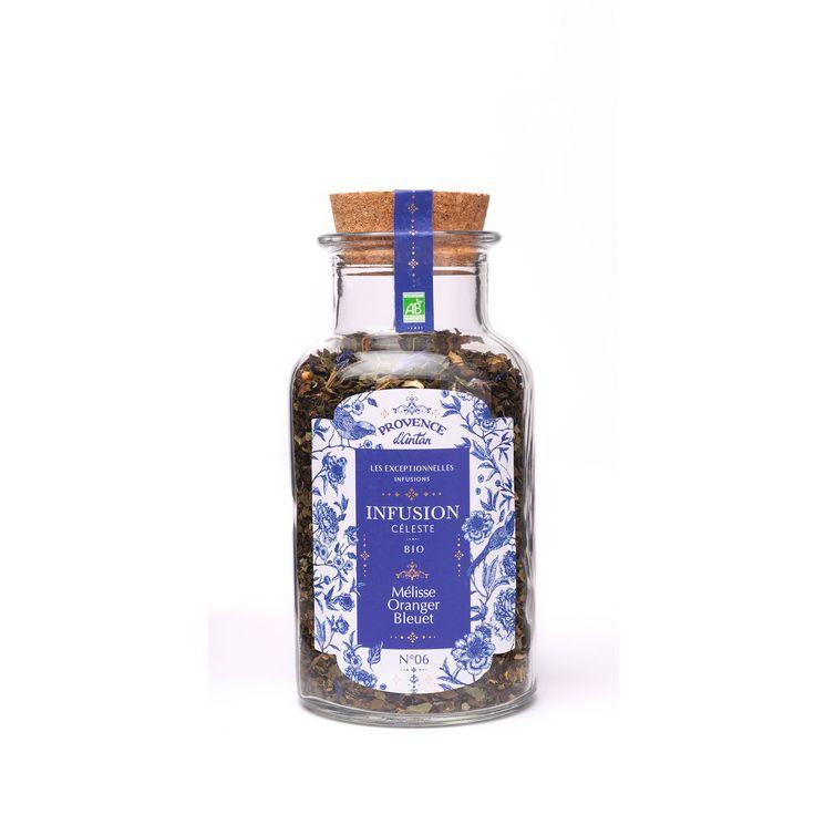 Infusion bio celeste vrac melisse/oranger/bleuet 30gr - Provence d'Antan