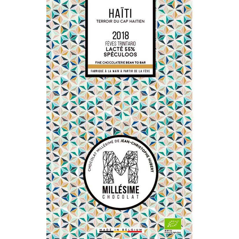 Chocolat Haiti Bio Lait spéculos 70g - Millésime