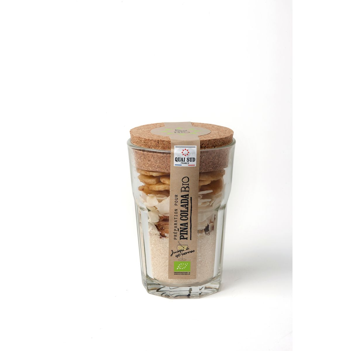Mélange Bio pour Pina colada en verre à mojito 160g  - Quai Sud