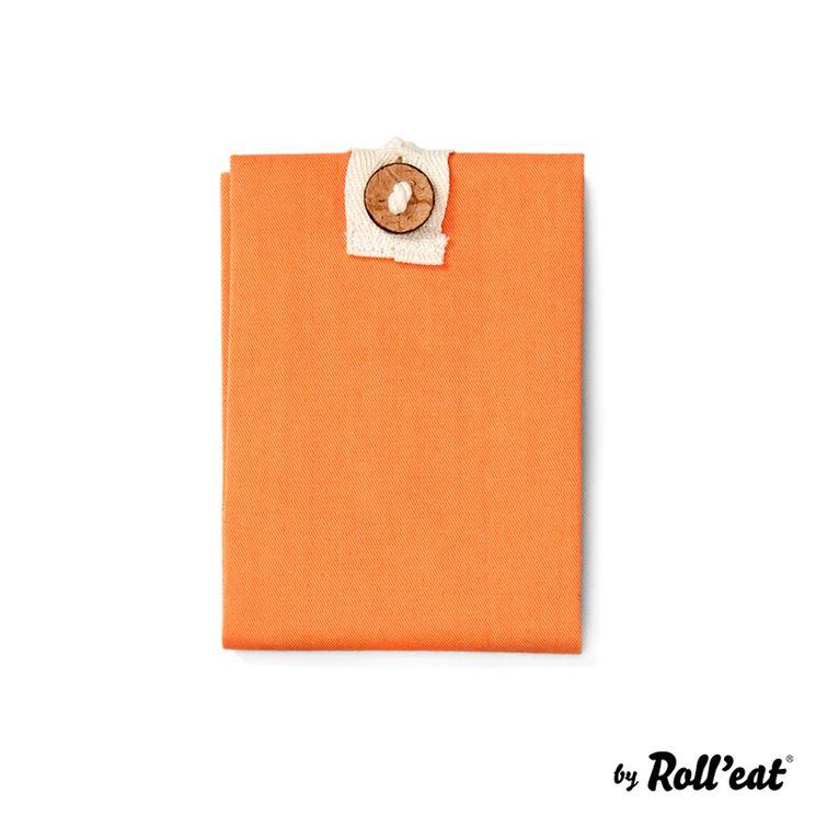Sac à sandwich Boc'n'roll orange coton bio - Roll Eat