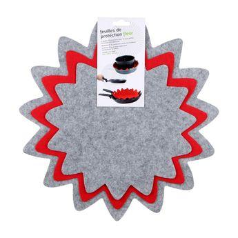 Achat en ligne Set de 3 feuilles de protection pour rangements des casseroles et poèles XL 24 / 32 / 37 cm