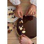 Décor en chocolat : 20 mini tablettes en chocolat blanc