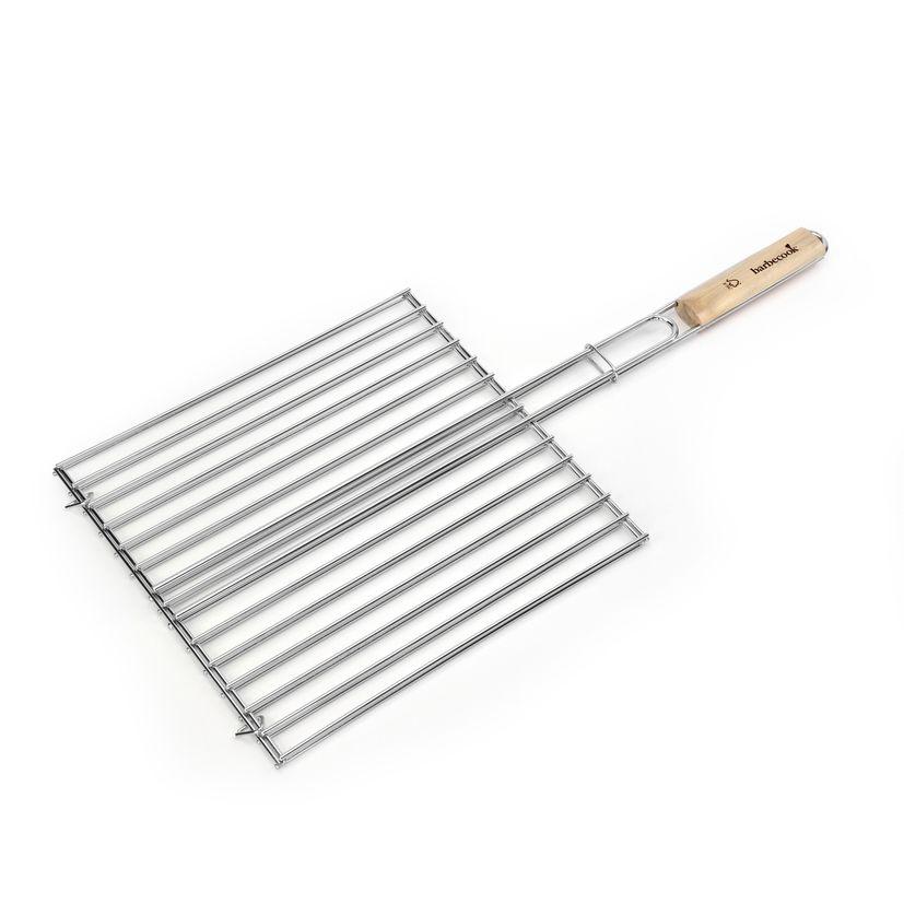Grille rabattable de cuisson en chrome 36 x 34 cm - Barbecook