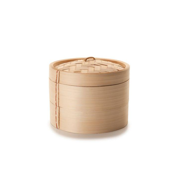 Cuit vapeur en bambou naturel tissé diamètre 20 cm - Ibili