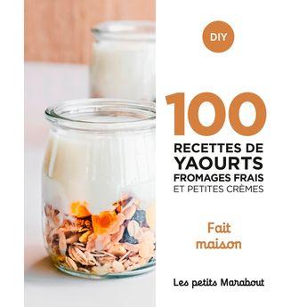 Achat en ligne 100 recettes : Yaourts fromages frais et cremes - Marabout