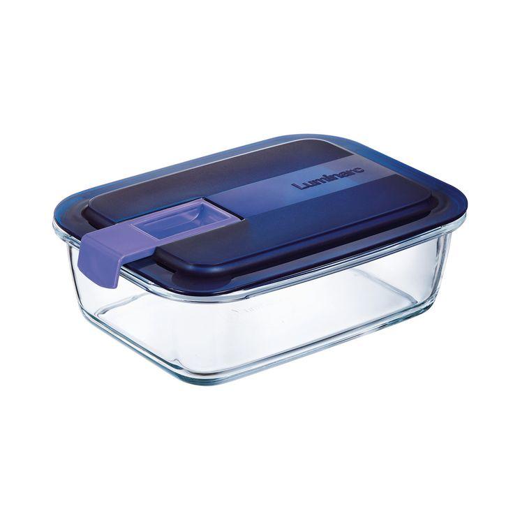Boite hermetique Easy Box rectangulaire en verre 197cl 25x17.7x7.74cm - Luminarc