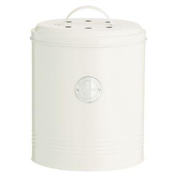 Achat en ligne Poubelle à compost blanc cassé avec filtre charbon 2,5L - Typhoon