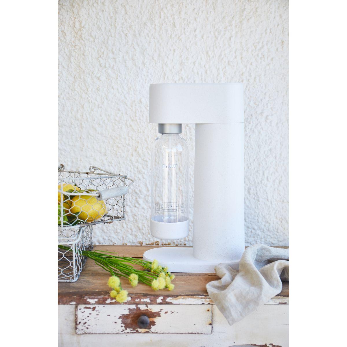 Machine à gazéifer l´eau en composite blanc - Mysoda