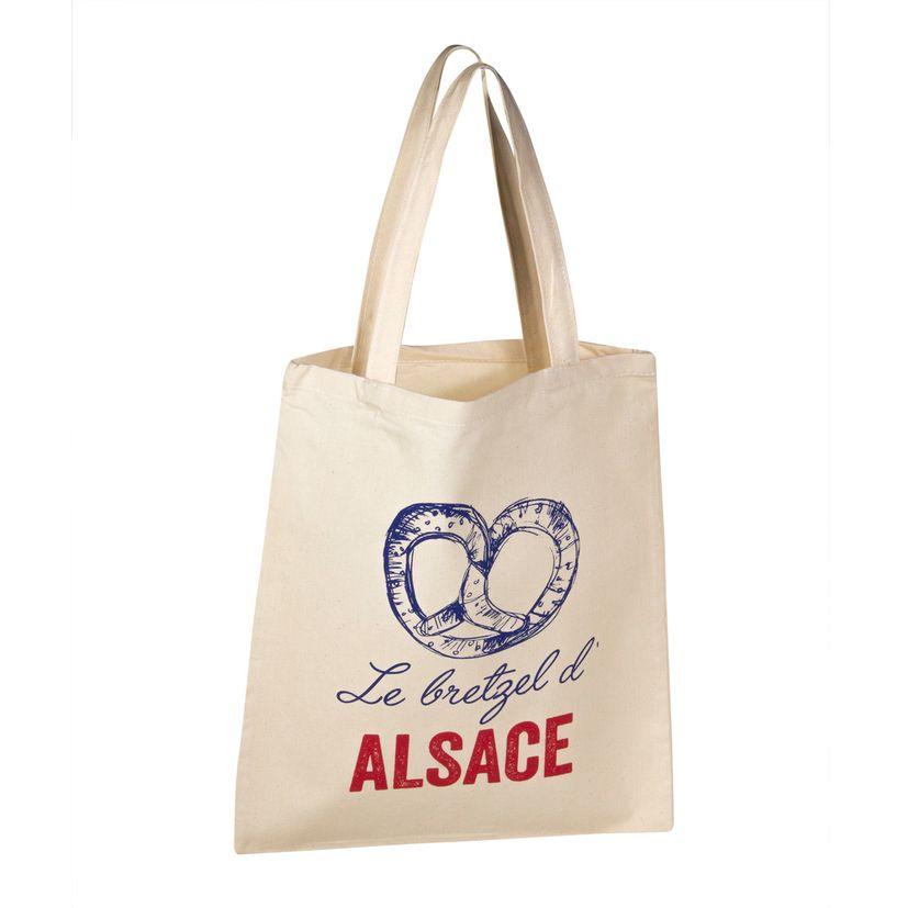 Totebag Alsace bretzel 100% coton - Tissage de L´Ouest