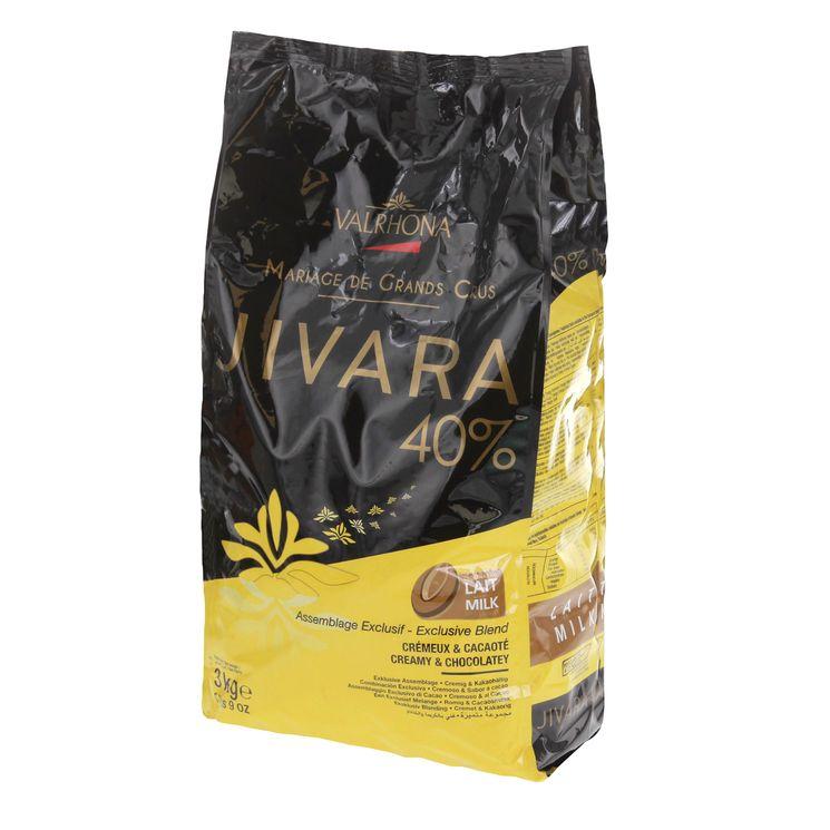 Chocolat au lait à pâtisser Valrhona Jivara 40% 3kg vrac - Mère
