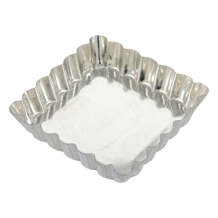 Moule à tartelette carré fer blanc 10 cm - Alice Délice